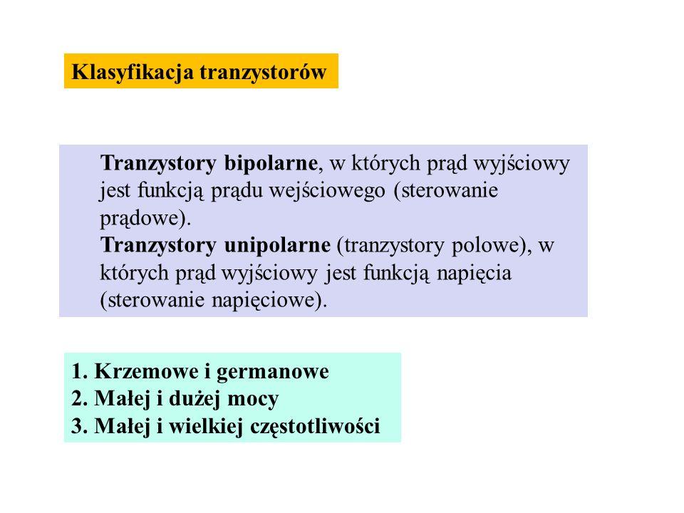 Klasyfikacja tranzystorów