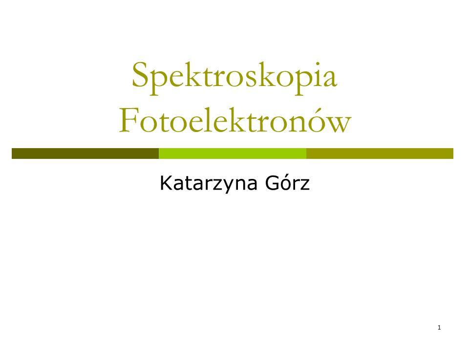 Spektroskopia Fotoelektronów