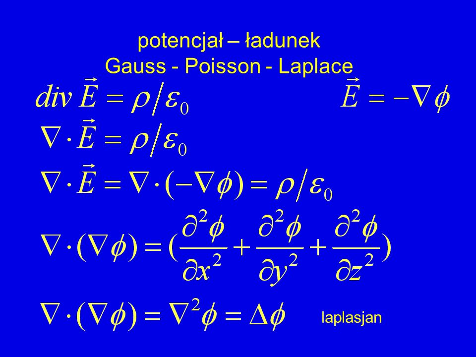 Gauss - Poisson - Laplace