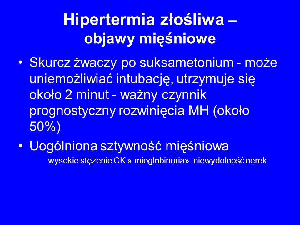Hipertermia złośliwa – objawy mięśniowe