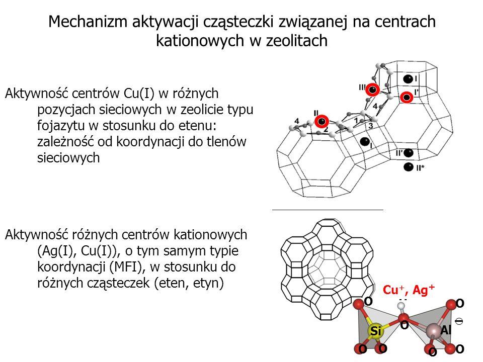 Mechanizm aktywacji cząsteczki związanej na centrach kationowych w zeolitach