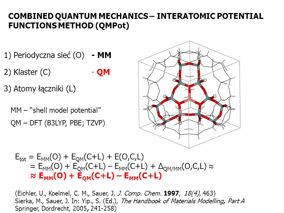 COMBINED QUANTUM MECHANICS – INTERATOMIC POTENTIAL