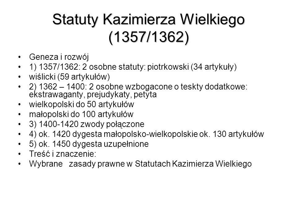 Statuty Kazimierza Wielkiego (1357/1362)