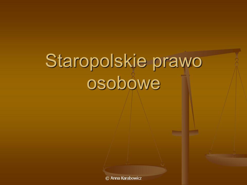 Staropolskie prawo osobowe