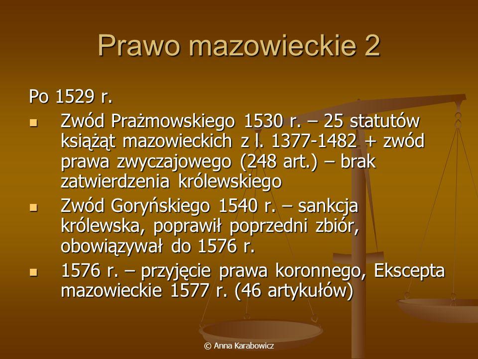 Prawo mazowieckie 2 Po 1529 r.