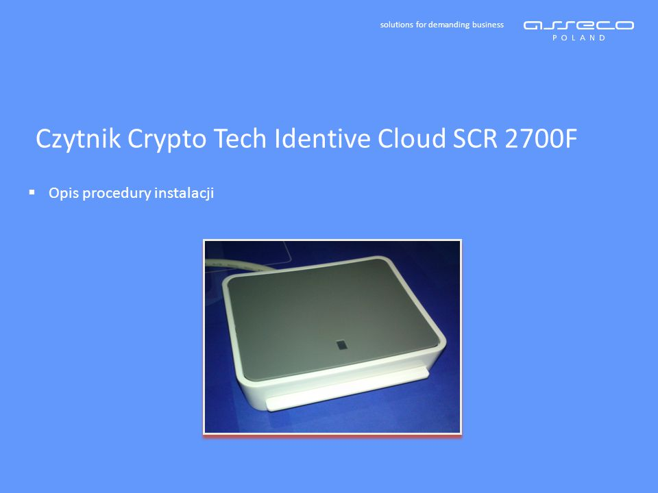 Czytnik Crypto Tech Identive Cloud SCR 2700F