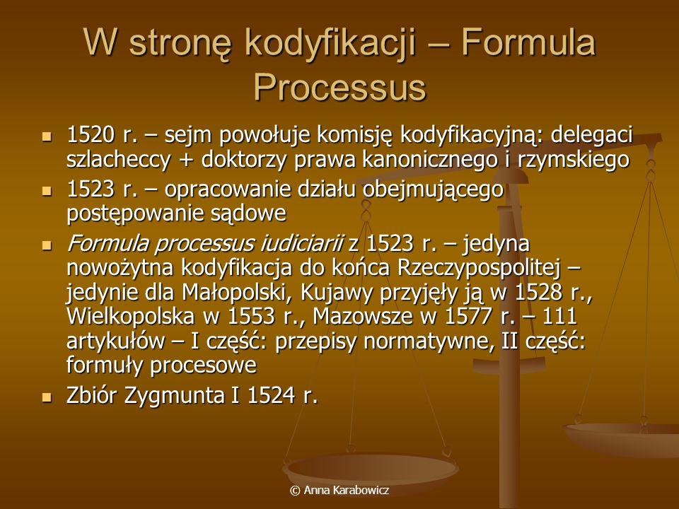W stronę kodyfikacji – Formula Processus