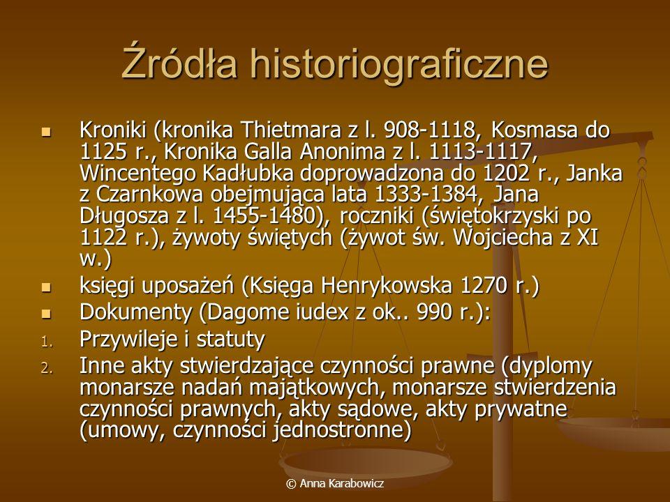 Źródła historiograficzne