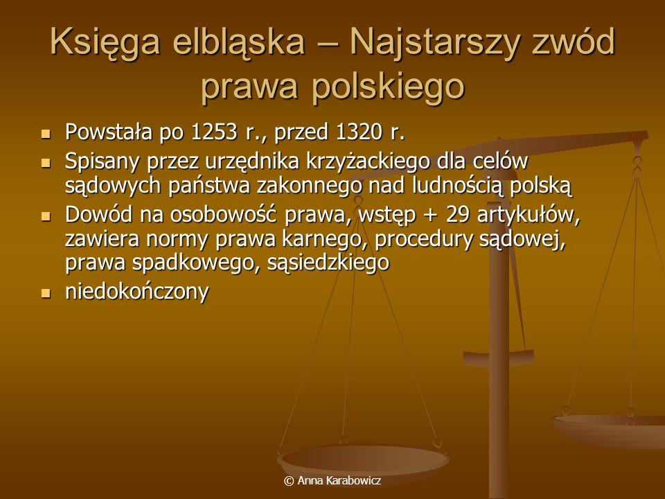 Księga elbląska – Najstarszy zwód prawa polskiego