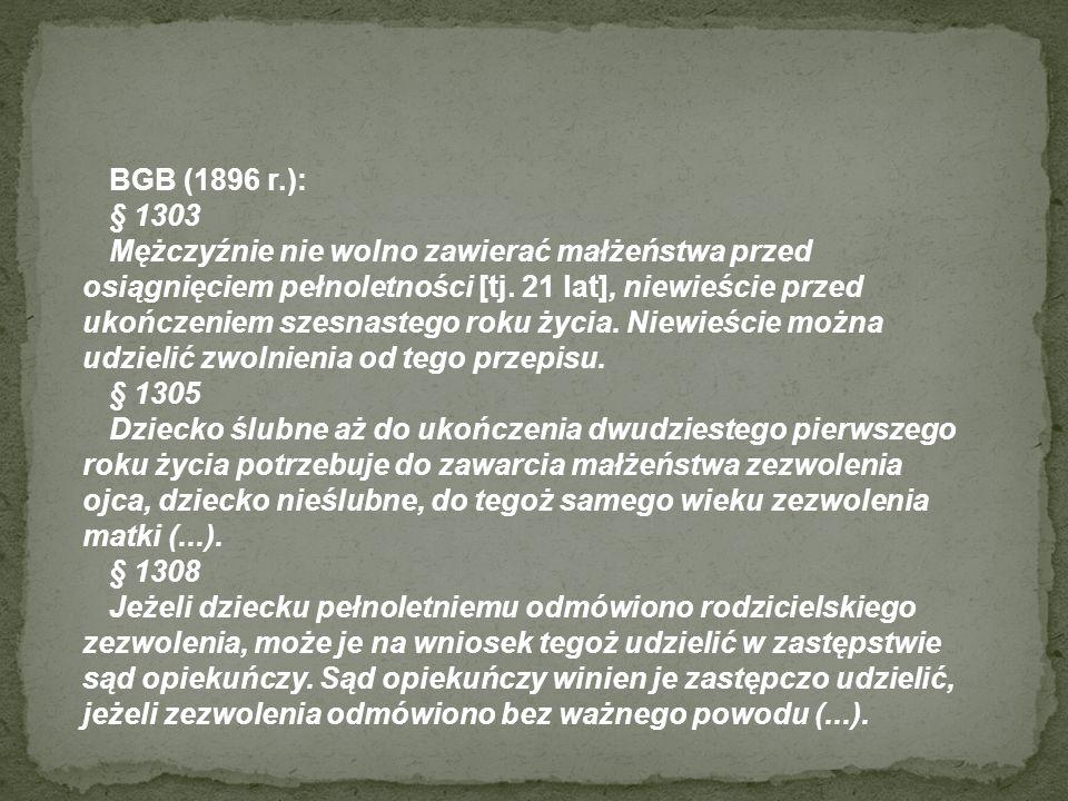 BGB (1896 r.): § 1303.