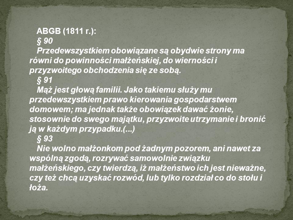ABGB (1811 r.): § 90.