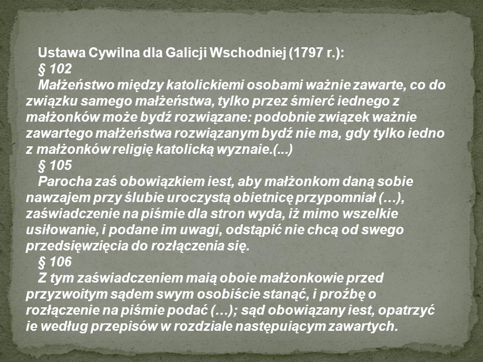 Ustawa Cywilna dla Galicji Wschodniej (1797 r.):