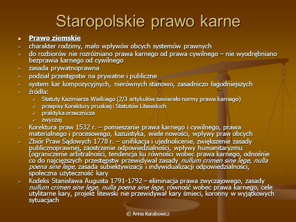 Staropolskie prawo karne