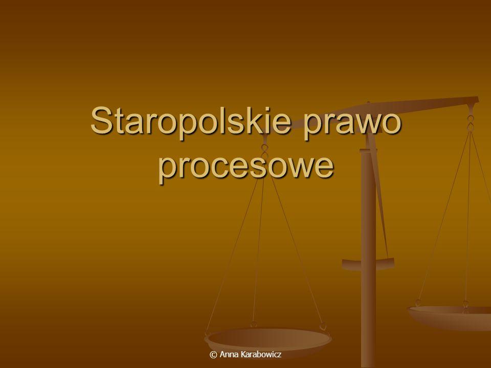 Staropolskie prawo procesowe