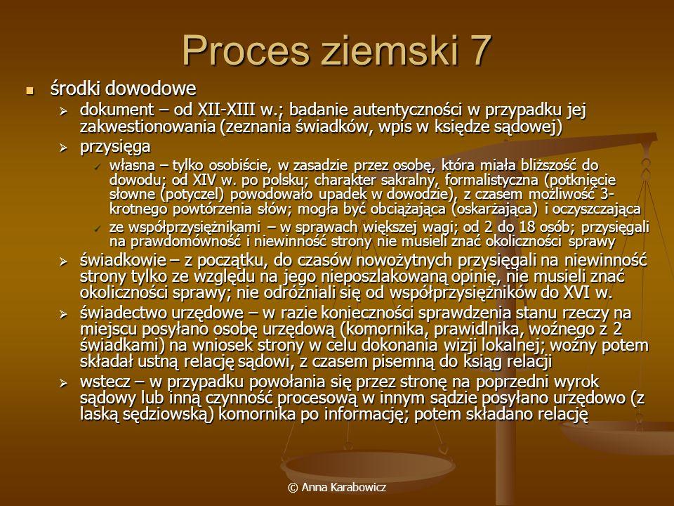 Proces ziemski 7 środki dowodowe