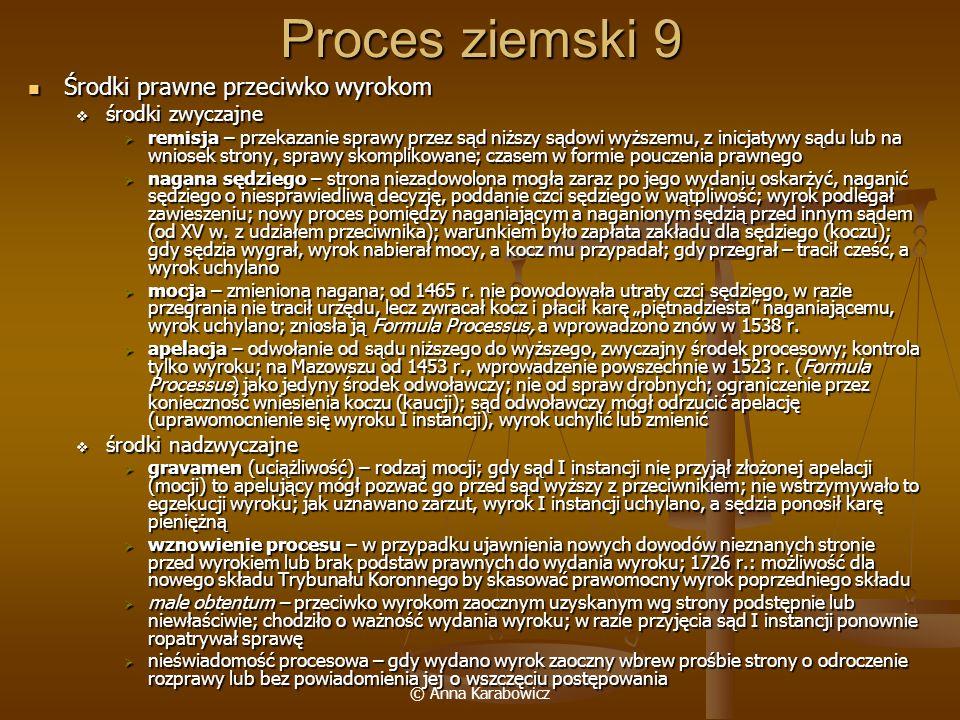 Proces ziemski 9 Środki prawne przeciwko wyrokom środki zwyczajne