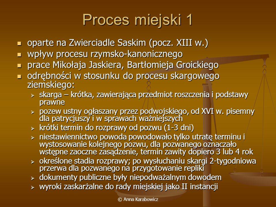Proces miejski 1 oparte na Zwierciadle Saskim (pocz. XIII w.)