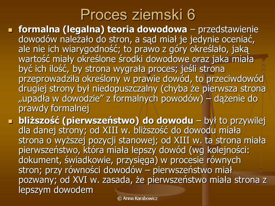 Proces ziemski 6