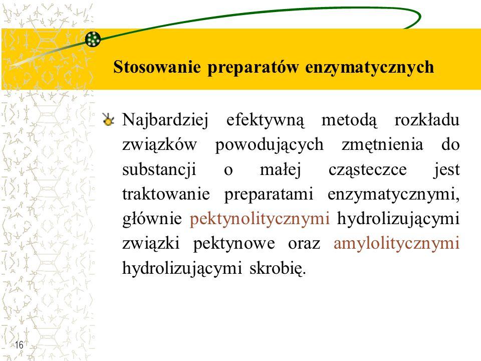 Stosowanie preparatów enzymatycznych