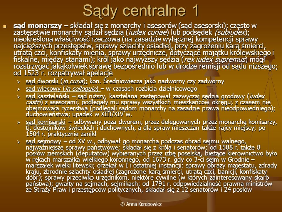 Sądy centralne 1
