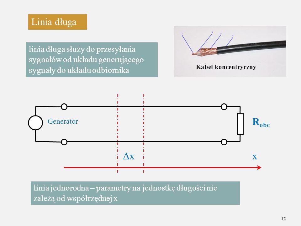 Linia długa linia długa służy do przesyłania sygnałów od układu generującego sygnały do układu odbiornika.