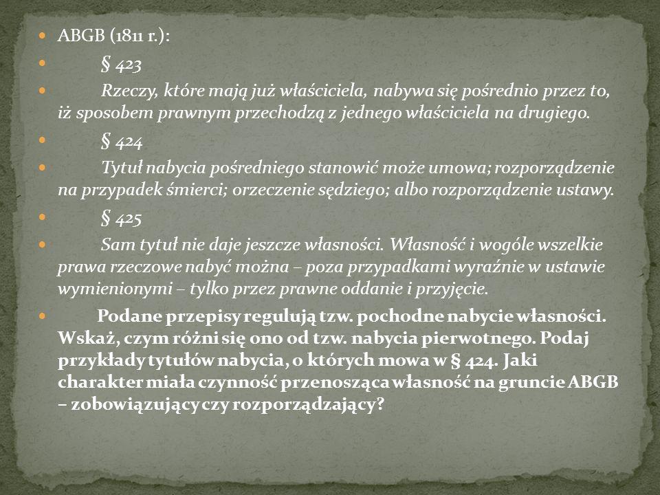 ABGB (1811 r.): § 423.