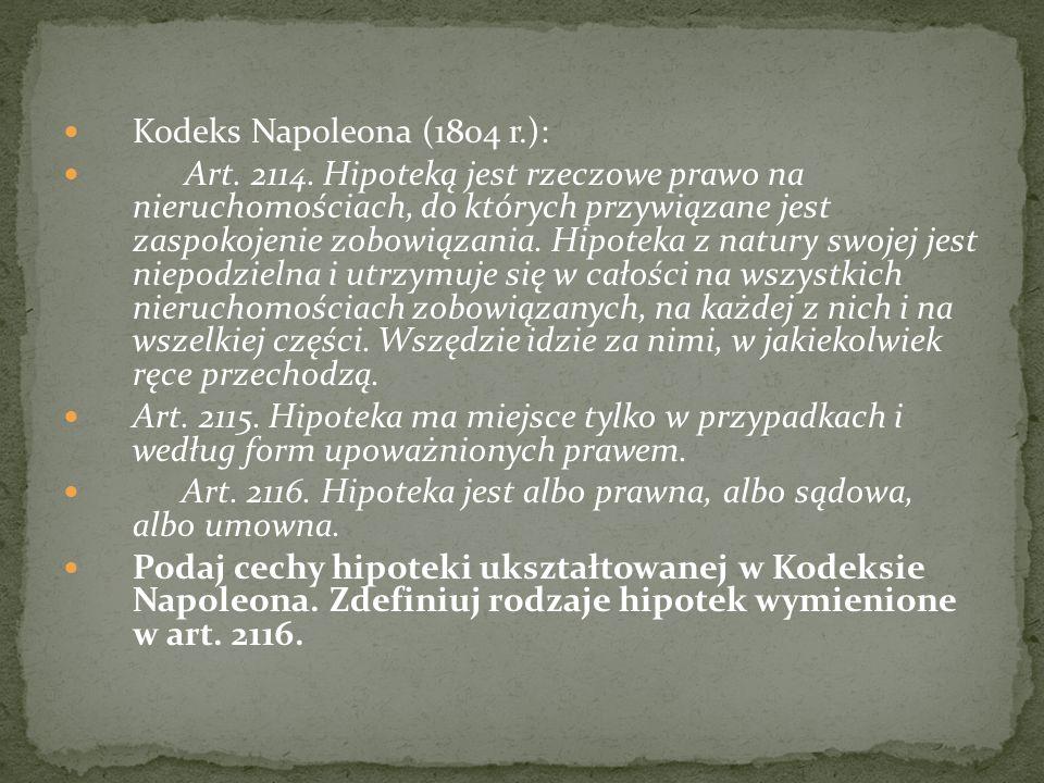 Kodeks Napoleona (1804 r.):