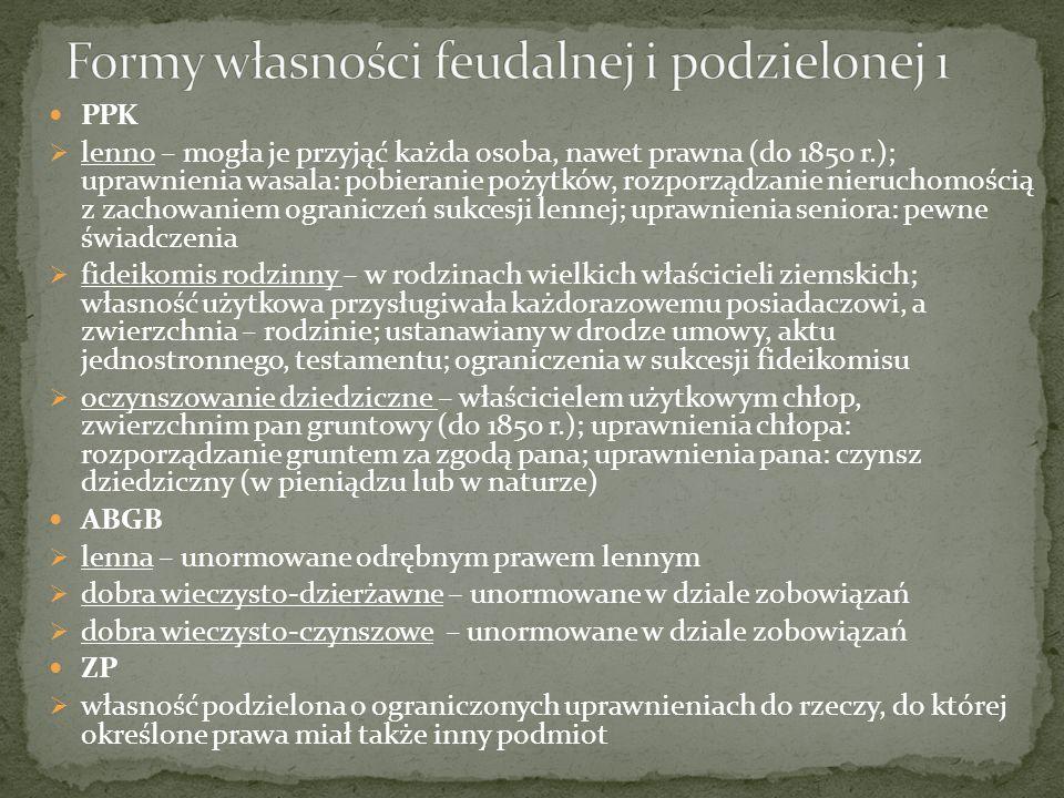 Formy własności feudalnej i podzielonej 1