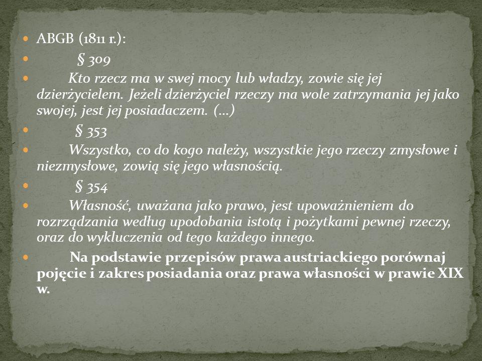 ABGB (1811 r.): § 309.