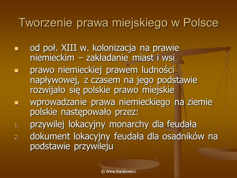 Tworzenie prawa miejskiego w Polsce