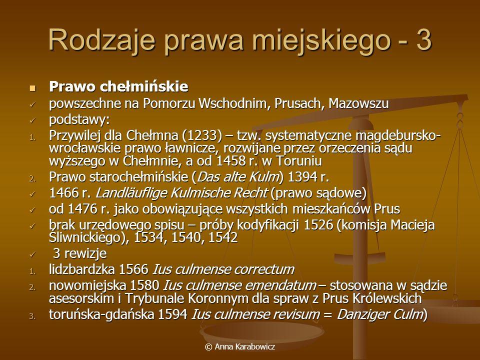 Rodzaje prawa miejskiego - 3