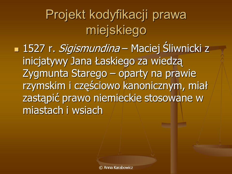 Projekt kodyfikacji prawa miejskiego