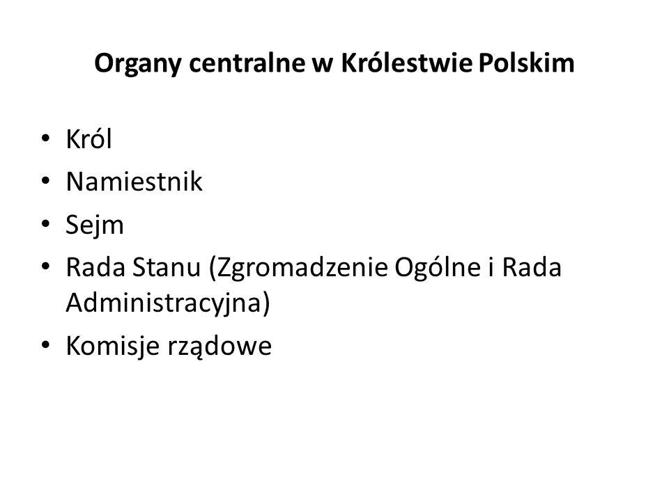 Organy centralne w Królestwie Polskim
