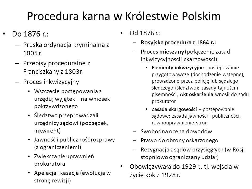 Procedura karna w Królestwie Polskim