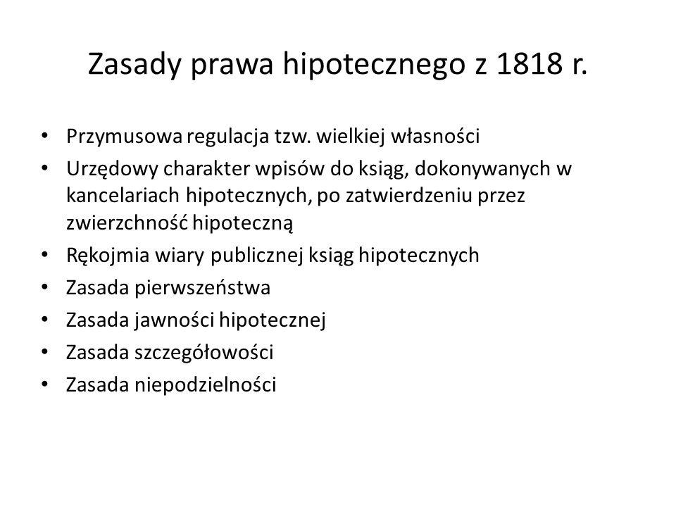 Zasady prawa hipotecznego z 1818 r.