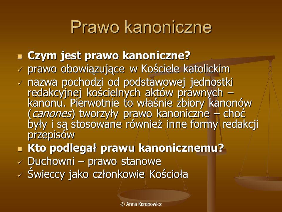 Prawo kanoniczne Czym jest prawo kanoniczne