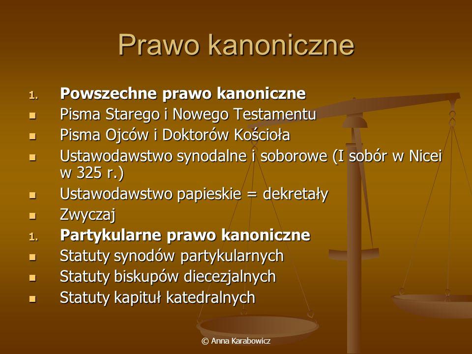 Prawo kanoniczne Powszechne prawo kanoniczne