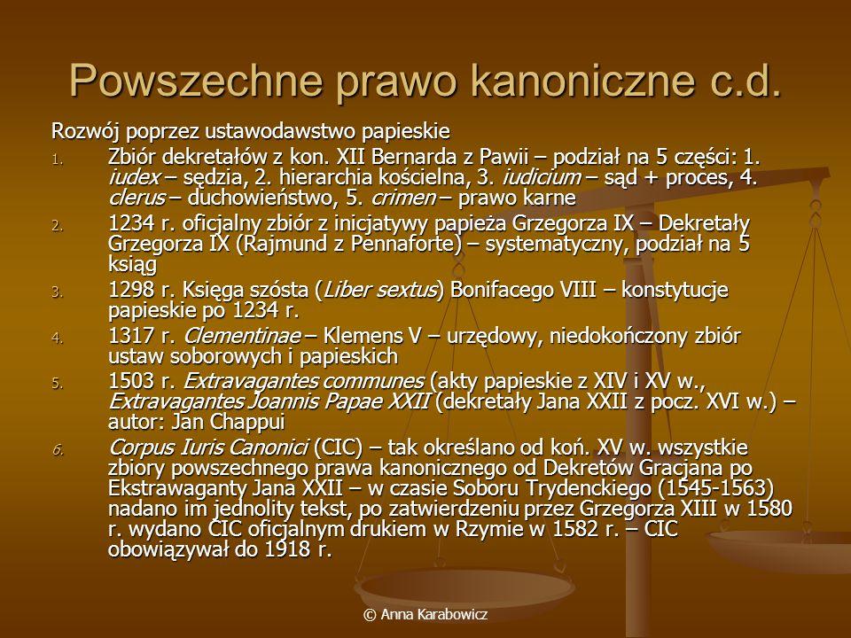 Powszechne prawo kanoniczne c.d.