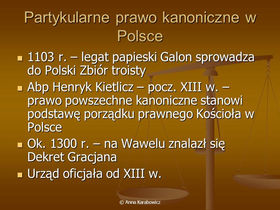 Partykularne prawo kanoniczne w Polsce