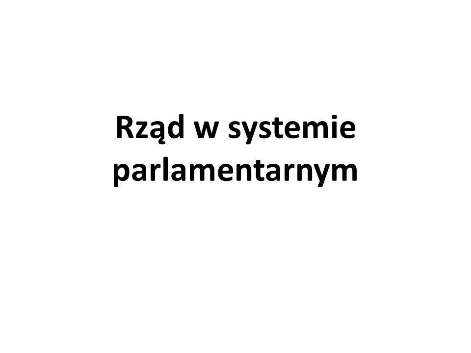 Rząd w systemie parlamentarnym