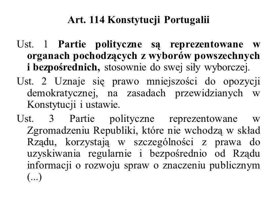 Art. 114 Konstytucji Portugalii