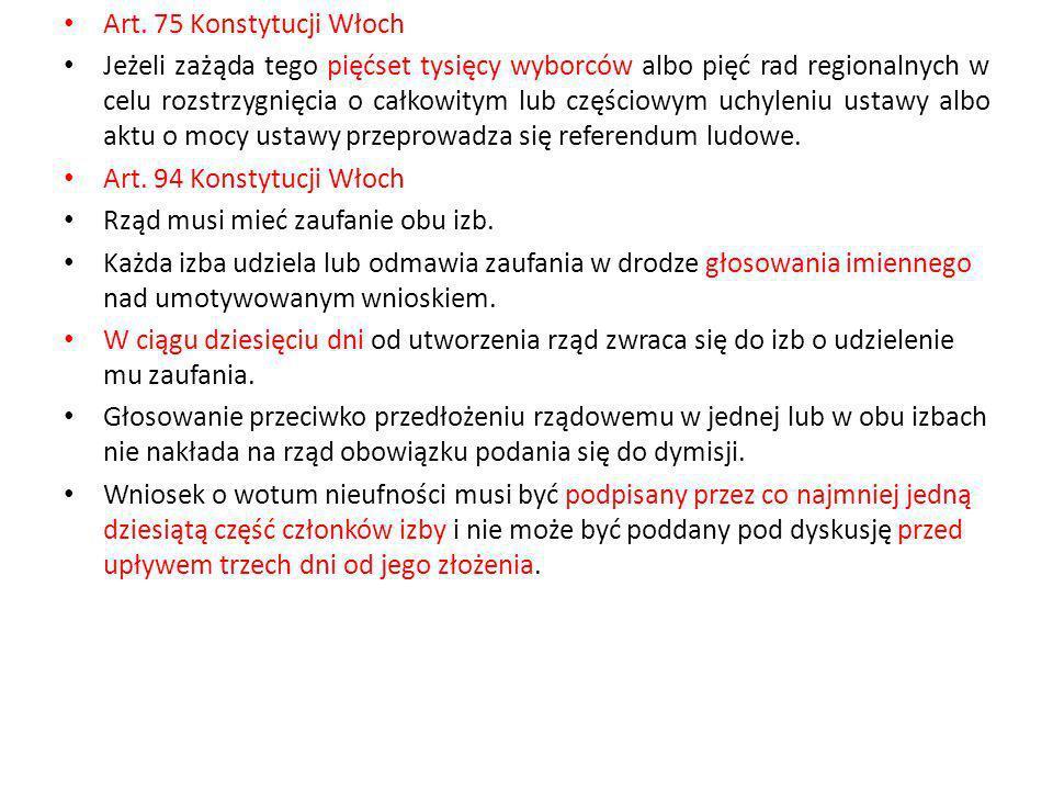 Art. 75 Konstytucji Włoch