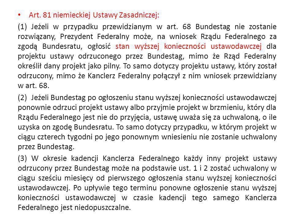 Art. 81 niemieckiej Ustawy Zasadniczej: