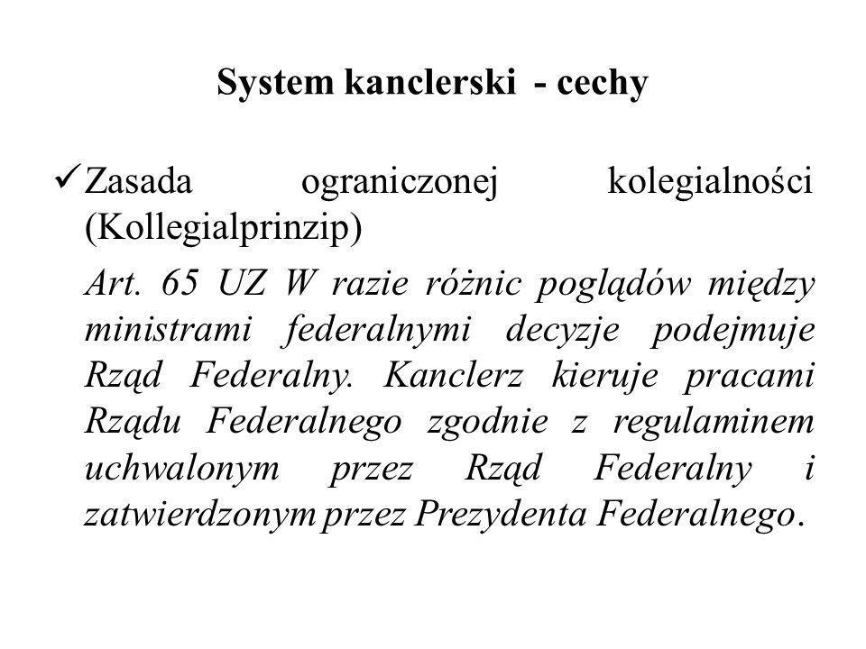 System kanclerski - cechy