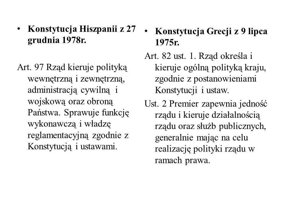 Konstytucja Hiszpanii z 27 grudnia 1978r.