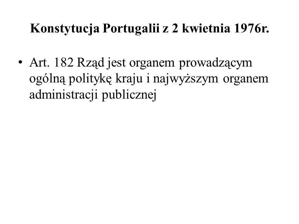 Konstytucja Portugalii z 2 kwietnia 1976r.
