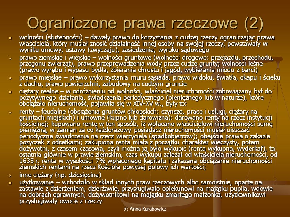 Ograniczone prawa rzeczowe (2)