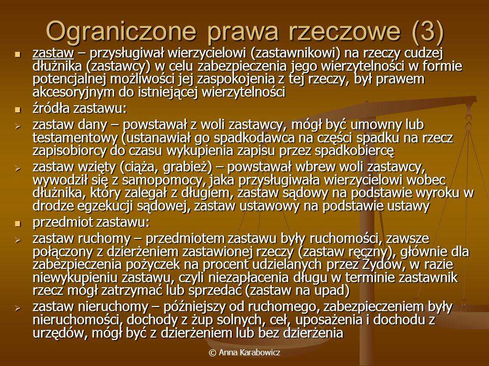 Ograniczone prawa rzeczowe (3)