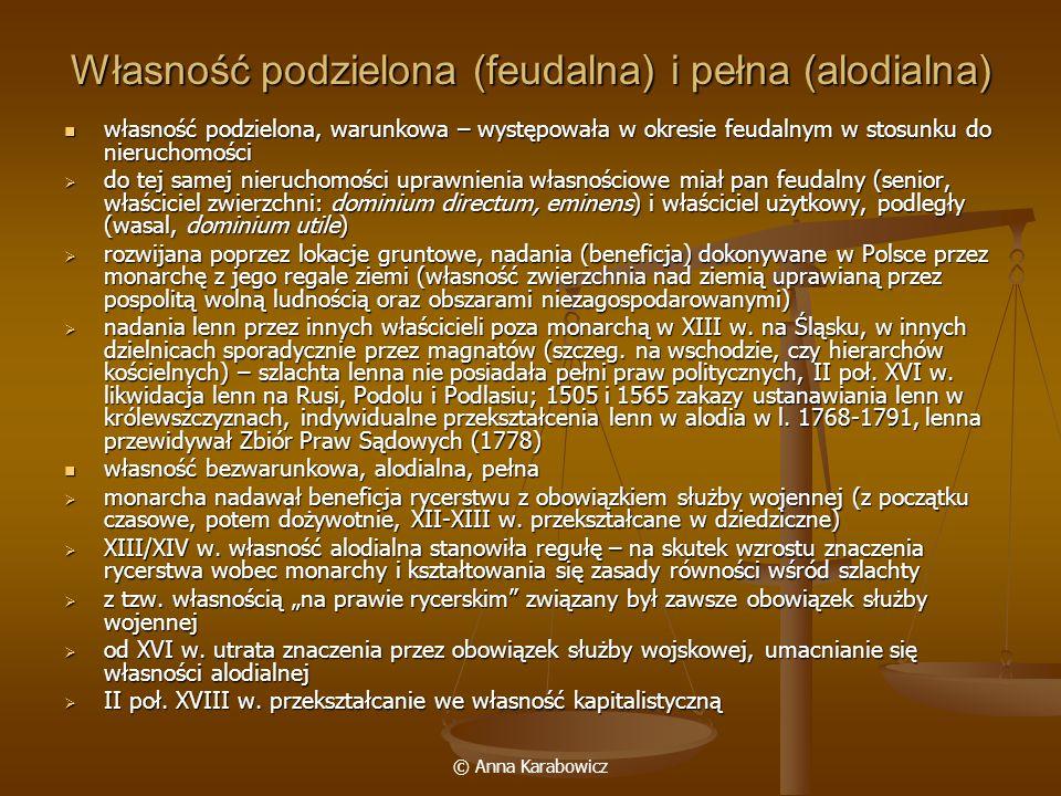 Własność podzielona (feudalna) i pełna (alodialna)