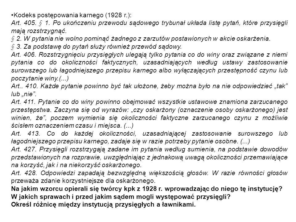 Kodeks postępowania karnego (1928 r.):